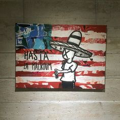 HASTA LA MALIKOUM - 70x50 - collage, acrylique #mara #usa #montpellier #mtp #collage #collageart #graffiti #graffitiart #urbanart #fucktrump #hastalamalikoum #exposition #exhibition #sauvage #canvas #toile #street #art #streetart #streetartoncanvas