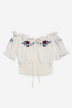 d698b4ccdae6d   High Way - Ivory Crop Top by WYLDR - Topshop Shirt Blouses