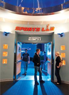 This is the ESPN Sports Lab on campus at Full Sail University. This is awesome that Full Sail is not only a partner with ESPN, but also has their own sports lab on campus. This photo motivates me with purpose and autonomy because my autonomy is my self-determination to go to college and be able to participate in fin activities while studying my degree. The purpose of this photo is to motivate me on showing me how many different opportunities that are available while on campus.