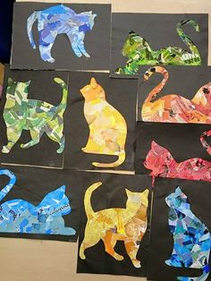 Silhouette cats.  Perfect humane society camp project.