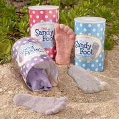 Colorful Sandy Foot Casting Kit - cute vacation keepsake idea.
