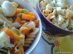 Salada de Macarrão http://www.anaclaudianacozinha.com/2013/04/salada-de-macarrao-colorido.html