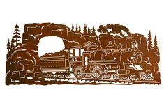 "42"" Steam Locomotive Train Scenic Metal Wall Art - Wall Decor"