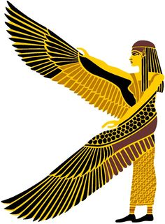 Egyptian Stencil Winged isis