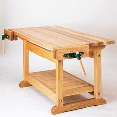 Buy Downloadable Woodworking Project Plan to Build Traditional Workbench at Woodcraft.com #woodworkingbench