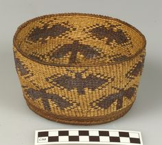 Butterfly basket [Achomawi (Pit River); possibly used by the Shasta], circa 1900, Conifer root, redbud, and bear grass.