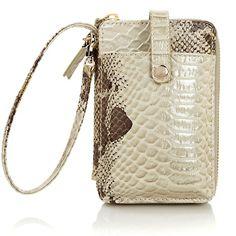 $33.  HSN.com   Elliott Lucca Genuine Leather Phone Wristlet