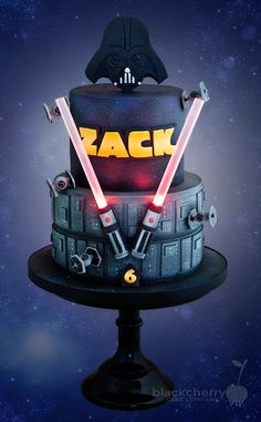 Splendid Imperial Star Wars 6th Birthday Cake made by Little Cherry Cake Company