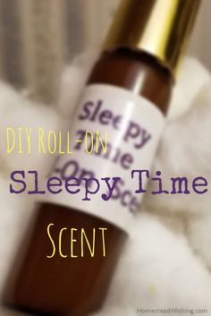 DIY Sleep Time Roll-On Scent   Homestead Wishing  Author, Kristi Wheeler Need help getting to sleep? Let lavender and chamomile do some of the work for you. Homemade sleep aid. How to make your own DIY sleepy time roll-on scent.