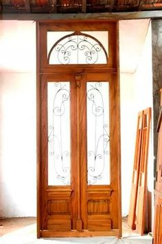 porta em madeira de demolição peroba rosa 2 folhas 2.74x1.38