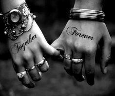 . More Tattoo Ideas, Together Forever, Hold Hands, Wedding Tattoo, Couple Tattoo, Black White, Tattoo Patterns, Matching Tattoo, Tattoo Design marriage tattoos for couples | amazing couples tattoo ideas 300x233 Unique Tattoo Designs For Couples Loving Couple Tattoo Design Together Forever Best Matching Tattoo Ideas For Couples black white love photography ❤ liked on Polyvore Wedding #tattoo patterns #tattoo design| http://wonderfultatoosthelma.blogspot.com