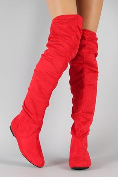 Vickie-HI Suede Slouchy Thigh High Boot $30.20