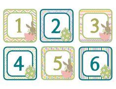 Calendar Numbers - Freebie