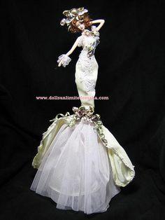 victorian tassel dolls | Victorian Tassel Doll ; Elizabeth