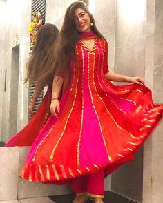 Premium Quality Gorgeous Rayon Gotta Patti Suit Set In Stock 🌸 Fully Stitched.Very Pretty. Punjabi Dress, Pakistani Dresses, Punjabi Suits, Stylish Dresses For Girls, Casual Dresses, Monsoon Fashion, Aditi Bhatia, Desi Wedding Dresses, Wedding Outfits