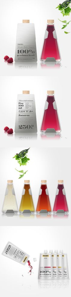 """Package design for a dressing series. Contest submission for the contest """"The Delicious Way"""" for Thomy, Nestlé Deutschland AF *** by Maria Grønlund"""