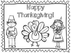 Adorable printable placemat for Thanksgiving, designed by June ...