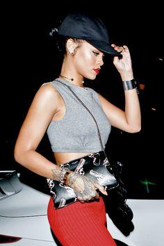 "Rihanna at ""Giorgio Baldi"" Restaurant in Los Angeles on October 12."
