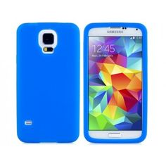 Simple Silicone Blue Samsung Galaxy S5 Case