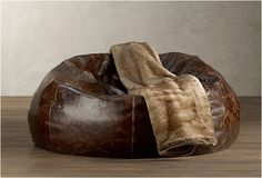 Grand leather bean bag | by Restoration Hardware
