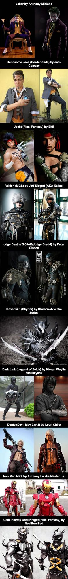 Epic Male Cosplay Collection
