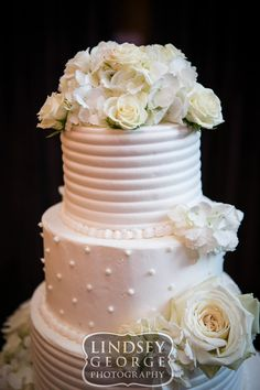 Detail of five tier wedding cake Cupcake Island click to view full gallery The Scoular Ballroom Omaha Nebraska