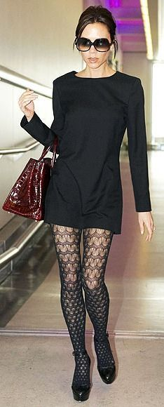 Divinas con Judit: Victoria Beckham y sus medias más fashion..