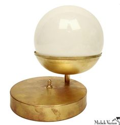 Off Center Globe Table Light
