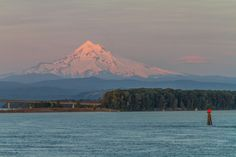 Amazing view of Mt. Hood on the Columbia & Snake Rivers cruise. https://www.un-cruise.com/destinations/columbia-river-cruises