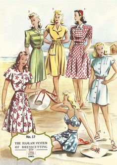 The Haslam System of Dressmaking No. 17 1940's  by MyVintageWish