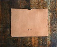 Leather laptop case .