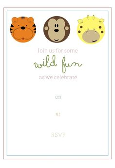 Free Jungle Birthday Party Invitaton and Party Favor Tags   Simply Real Moms