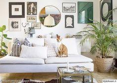 taulut,artek,ikea,pyöreä peili,valkoinen sohva
