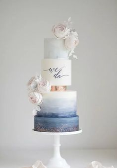 27 #Watercolor #Wedding #Cakes Your Guests Will Wow!