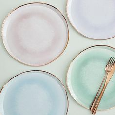 Pastel Watercolour Plates | Ginger Ray | The Original Party Bag Company Pastel Party Decorations, 21st Birthday Decorations, Party Plates, Party Tableware, Engagement Balloons, Pastel Paper, Pastel Watercolor, Rose Gold Foil, For Your Party