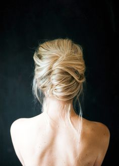 Gorgeous soft loose updo messy long hair style...love this!