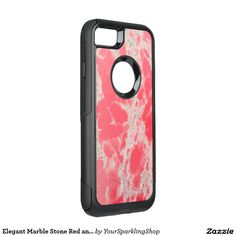 Elegant Marble Stone Red and White Otterbox