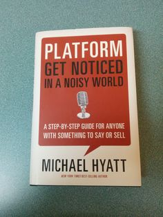 A great book from Michael Hyatt Interesting Reads, Step Guide, Great Books, Platform, Author, Sayings, Reading, Wedge, Lyrics