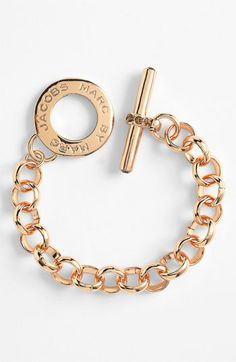 MARC BY MARC JACOBS 'Toggles & Turnlocks' Link Bracelet in Rose Gold/Light Peach color $118 | Nordstrom