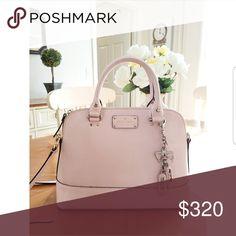 Pink/peach Kate Spade crossbody Super pretty! Coach Keychain included! kate spade Bags Crossbody Bags