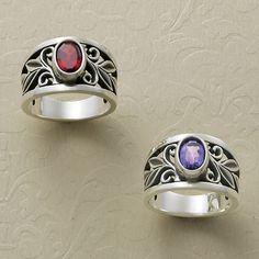 Valentines Collection 2015 - Abounding Vine Ring with Garnet and Amethyst #JamesAvery #Birthstones #Gemstones