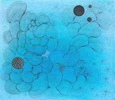 "Saatchi Online Artist: Luisa Mesa; Pen and Ink, 2012, Drawing ""Meditations Series"""