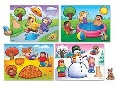 Seasons and Weather Puzzle Set at Lakeshore Learning