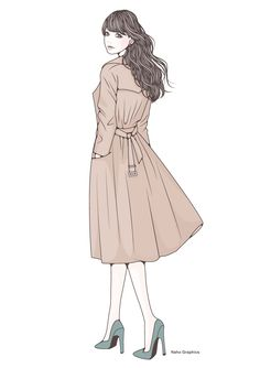 【web】http://naho.tv/ 【twitter】https://twitter.com/NahoGraphics 【instragram】https://www.instagram.com/naho_note/ #illustration #drawing#art#design #fashion #hair #hairstyle #face#design #イラスト #イラストレーション #アート #女性イラスト #ドローイング #絵 #make #メイク #女の子 #girl #woman #女性 #ファッション #ロング #ロングヘア #ウエーブ #秋 #トレンチ #トレンチコート #コート #全身 #景色