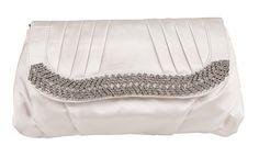 Ivory Diamante Wedding Satin Evening Clutch Bag Wedding Bag, Ivory Wedding, Bridal Clutch Bag, Brides And Bridesmaids, Satin, Bags, Color, Fashion, Handbags