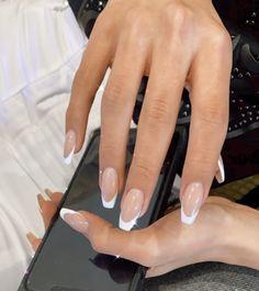 Acrylic Nails Coffin Short, Simple Acrylic Nails, Best Acrylic Nails, Simple Nails, Simple Wedding Nails, Acrylic Art, Coffin Nails, Gel Nails, Nagellack Design