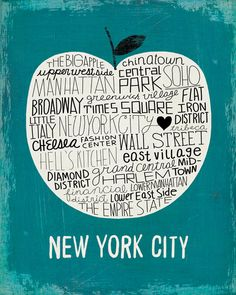 New York City, The Big Apple Art Print - Michael Mullan