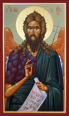 John the Baptist Byzantine Icons Religious Pictures, Religious Art, Greek Icons, Babylon The Great, Faith Scripture, Byzantine Icons, Archangel Michael, John The Baptist, Orthodox Icons