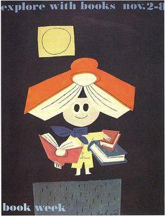1958, Paul Rand book week poster
