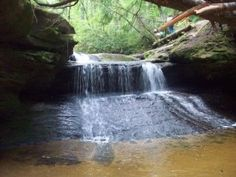 Creation Falls in Red River Gorge geologic area, Daniel Boone National Forest.